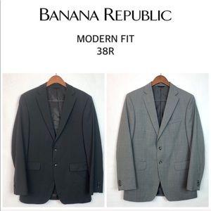 2 Banana Republic Modern Fit Suit Coats 38R